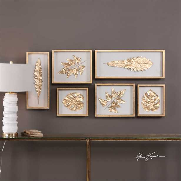 Golden Leaves, Shadow Box Set of 6 - Hudsonhill Foundry