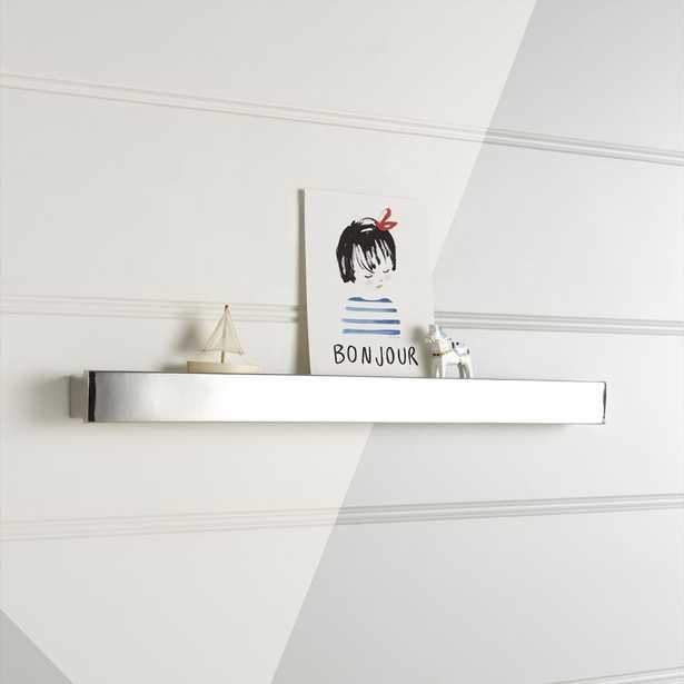 Metallic Silver Wall Shelf - Crate and Barrel