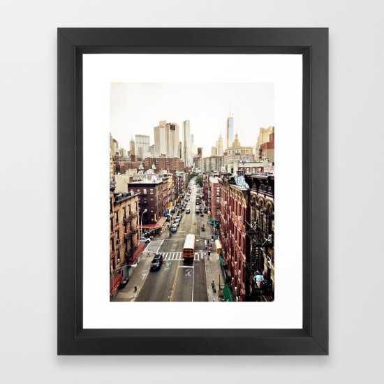 "New York City - FRAMED ART PRINT VECTOR BLACK MINI - 10""x12"" - Society6"