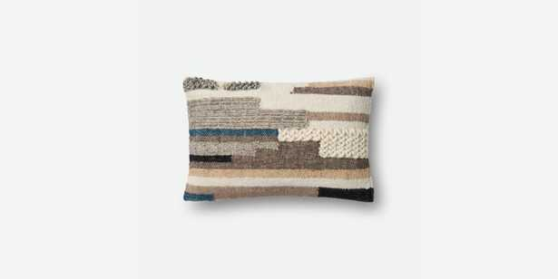 """P1048 MH MULTI 13"""" x 21"""" - Down insert - Magnolia Home by Joana Gaines Crafted by Loloi Rugs"""