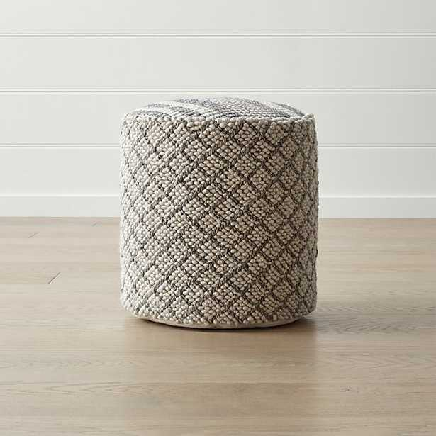 "Prado 18"" Round Pouf - Crate and Barrel"