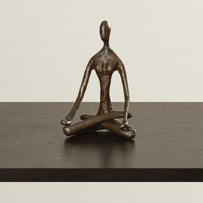 Female Yoga Lotus Figurine - Wayfair