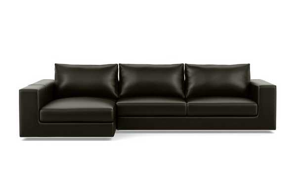 Walters Leather Sectional Sofa with Left Chaise - Interior Define