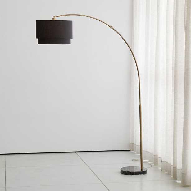 Meryl Arc Brass Floor Lamp - Crate and Barrel