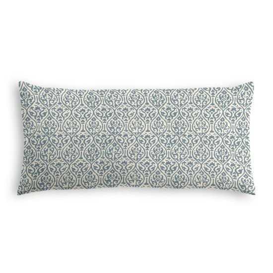 Lumbar Pillow  Prints Charming - Dusty Blue - down insert - Loom Decor