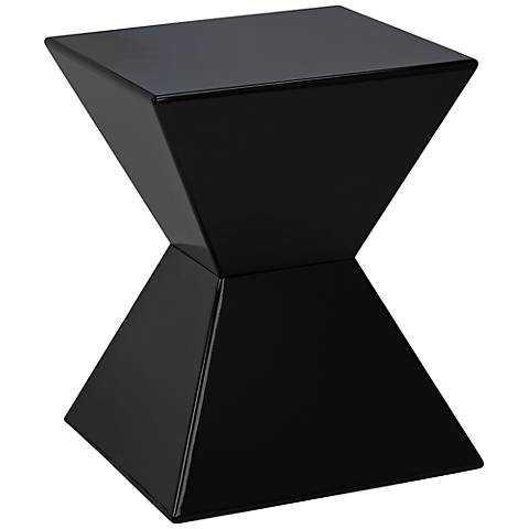 Rocco Modern End Table black - Lamps Plus