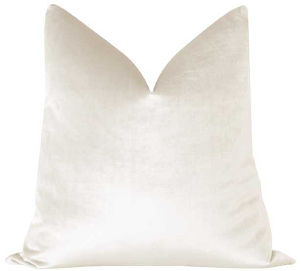 Faux Silk Velvet // Alabaster 18x18 - Little Design Company