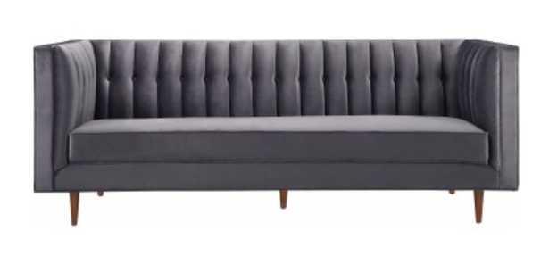 Madilyn Morgan Velvet Sofa - Maren Home