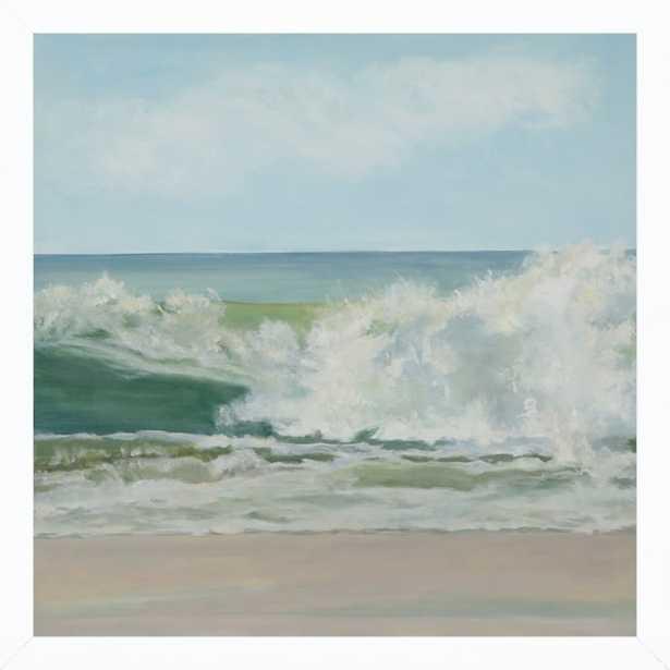 Wave Tumble - 16x16 - White wood frame no matte - Artfully Walls