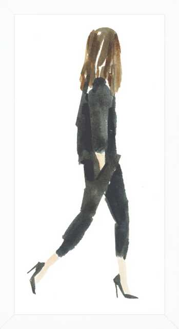"Black Suit - 10"" x 18"" - white wood frame no matte - Artfully Walls"