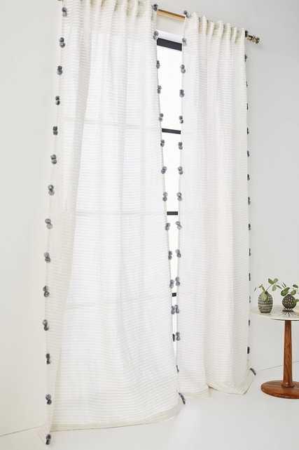 Pom Tassel Curtain - Anthropologie