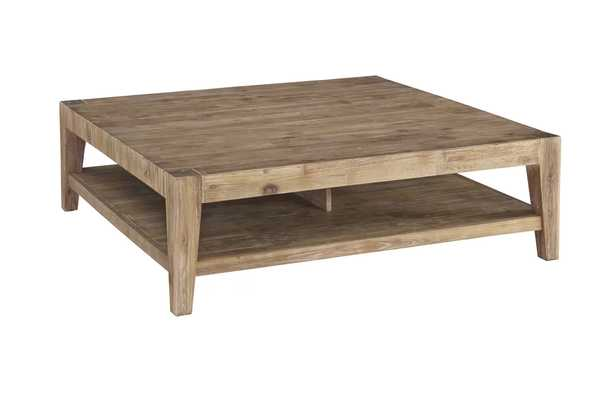 Savannah Brown Coffee Table with Tray Top - AllModern