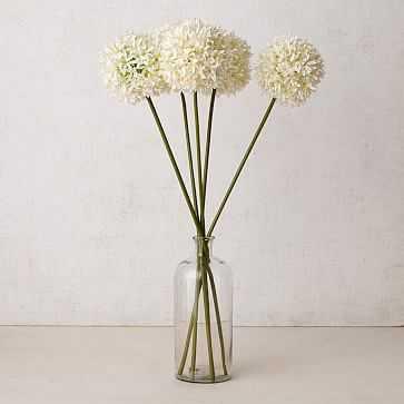 "Faux Flower Head Stems, 32"" White - West Elm"