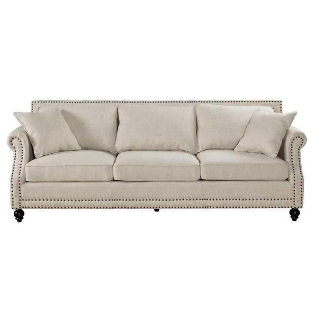 Ariana Beige Linen Sofa - Maren Home