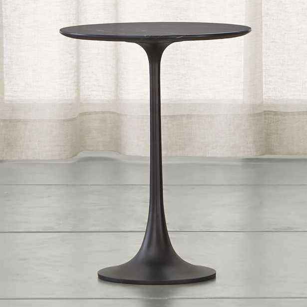 Nero Black Accent Table - Crate and Barrel - Crate and Barrel