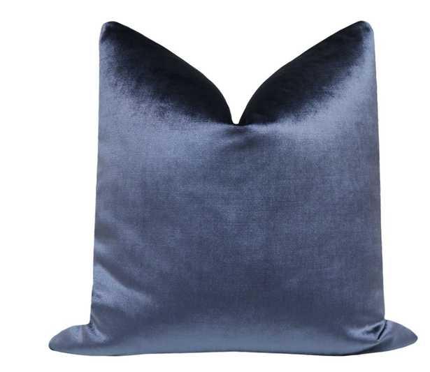 Faux Silk Velvet // Prussian Blue - Insert Not Included - Little Design Company