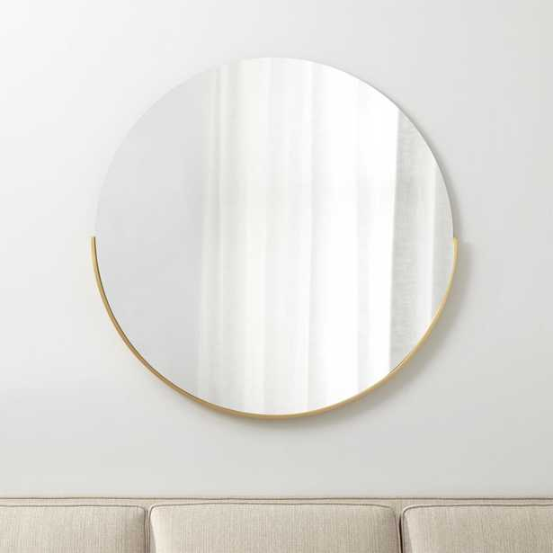 """Gerald Large 40"""" Round Wall Mirror - Crate and Barrel"""