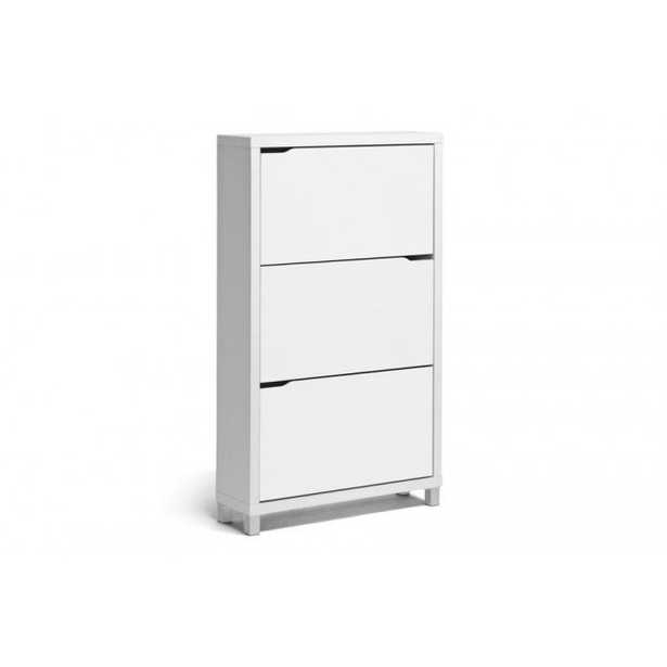 Baxton Simms White Shoe Cabinet Fp-3Oush-White - Lark Interiors