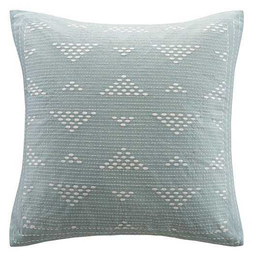 "Ivette 100% Cotton Throw Pillow, Blue - 18''x 18"" - Polyester fill - AllModern"