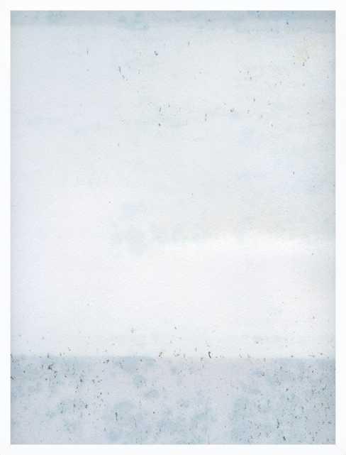 Overast - Soft Blues - 28x36 - White wood frame, no matte - Artfully Walls
