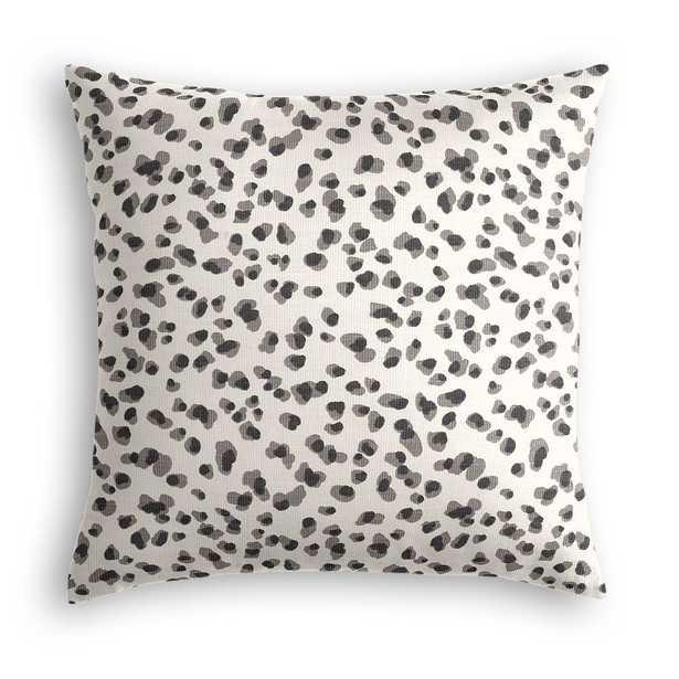 Black & white leopard print throw pillow - 18x18, Poly Insert - Loom Decor