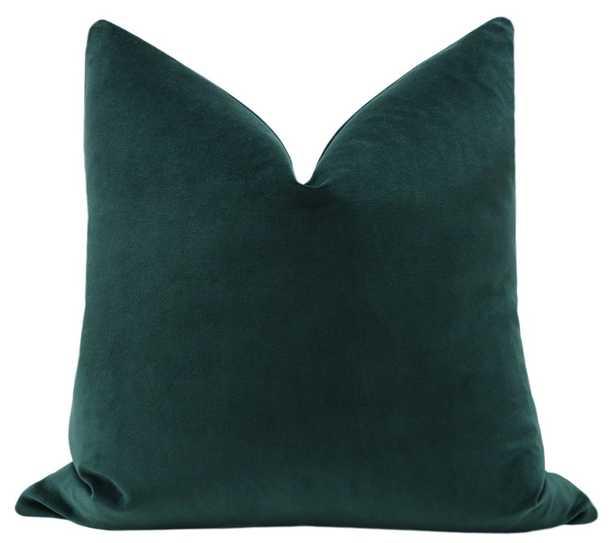 Classic Velvet // Emerald Pillow Cover - 12x20 - Little Design Company