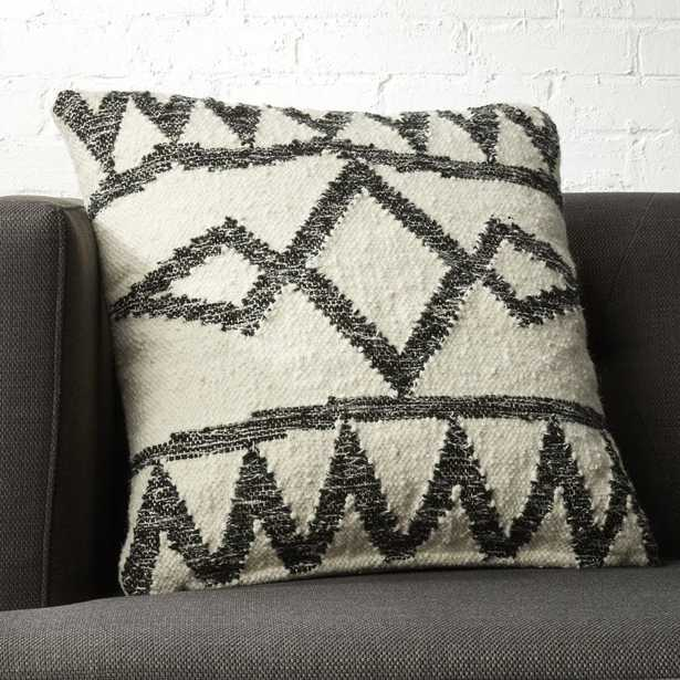 """20"""" Asterix Geometric Pillow with Feather Down Insert"""" - CB2"""