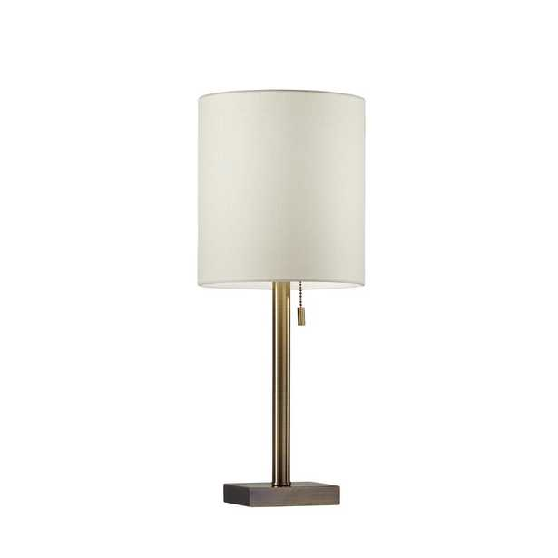 22 in. Antique Brass Table Lamp - Home Depot