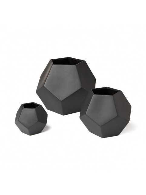 "DWELLSTUDIO FACETED BLACK VASE - 6"" x 7"", medium - Lulu and Georgia"