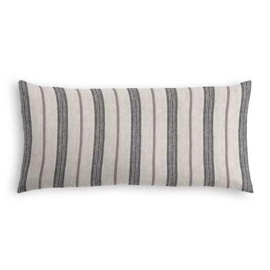 Farm To Table - Ash - Lumbar Pillow - Down Insert - Loom Decor
