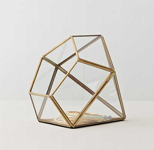 MIRRORED GLASS JEWELRY BOX - gem - RH Teen