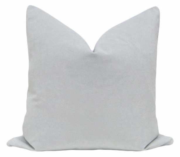 """Signature Velvet // Mist, 20"""" Pillow Cover - Little Design Company"""