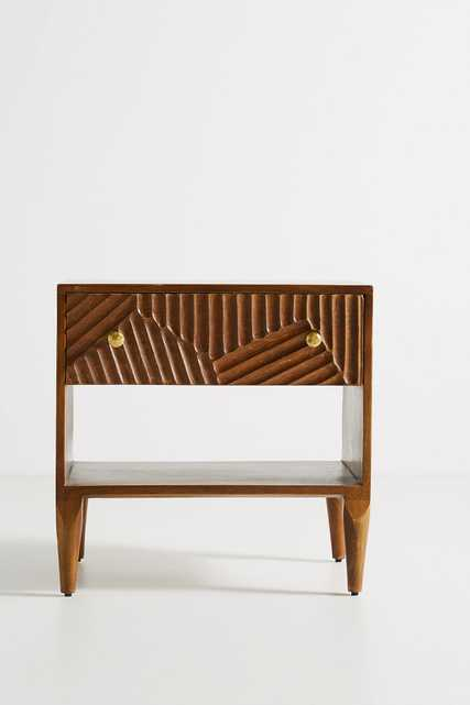 Paje Carved Nightstand - Anthropologie