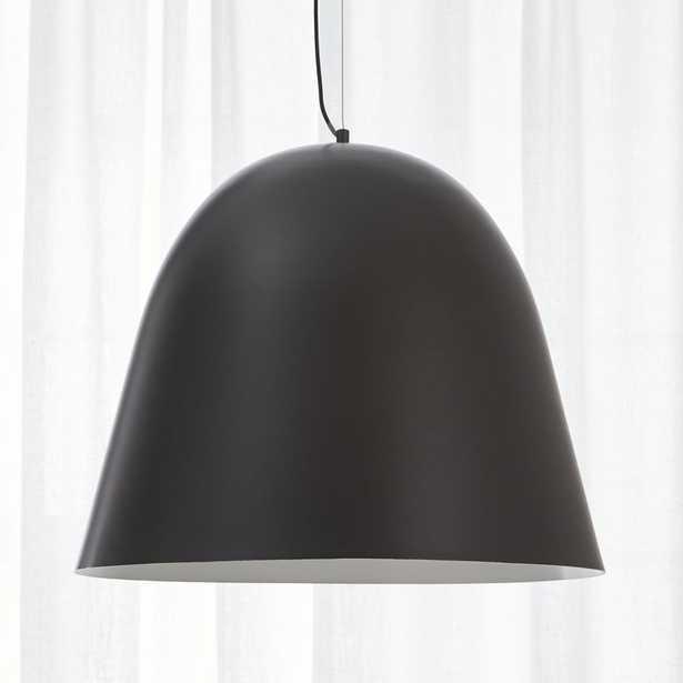 capitol pendant light - matte black - CB2