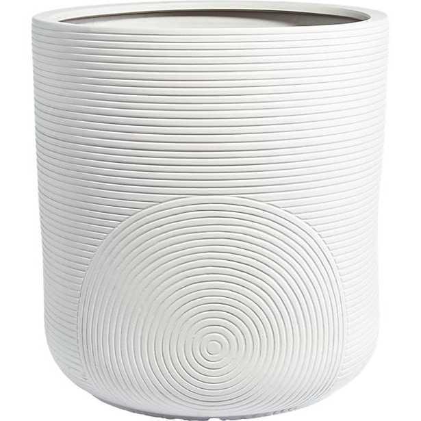zen large white planter - CB2