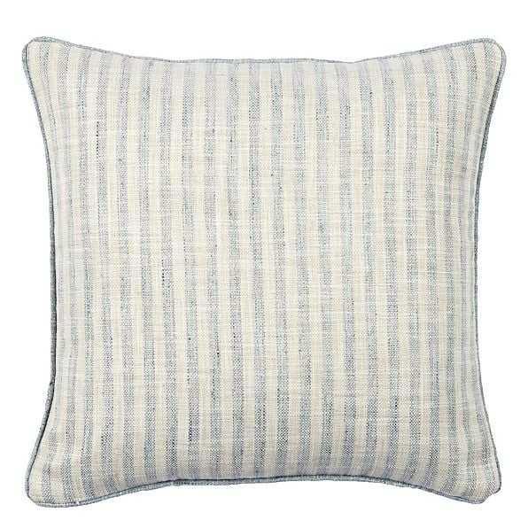 "Rabun Stripe 18"" Pillow Mineral with Down Insert - Ballard Designs"
