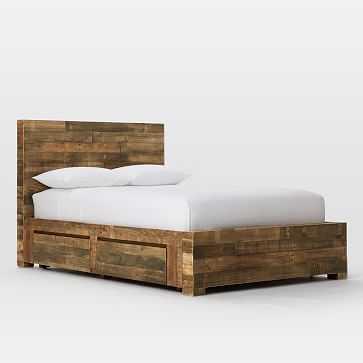 Emmerson Storage Bed Set - King, Reclaimed Pine - West Elm