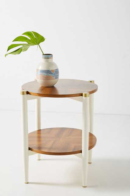 Geo-Marquetry Side Table - Anthropologie