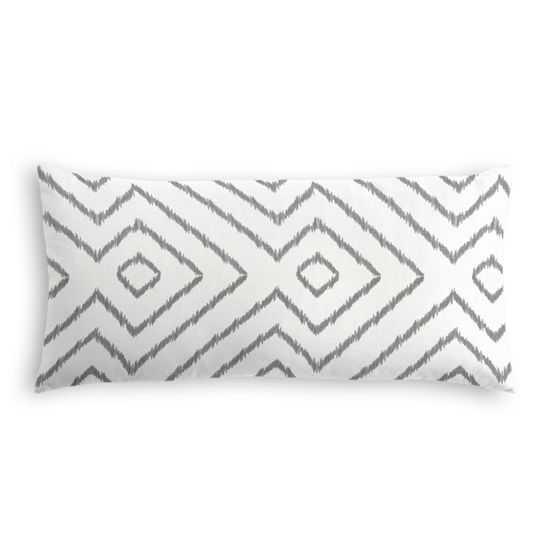 Lumbar Pillow  Optrix - Ash with Down Insert - Loom Decor