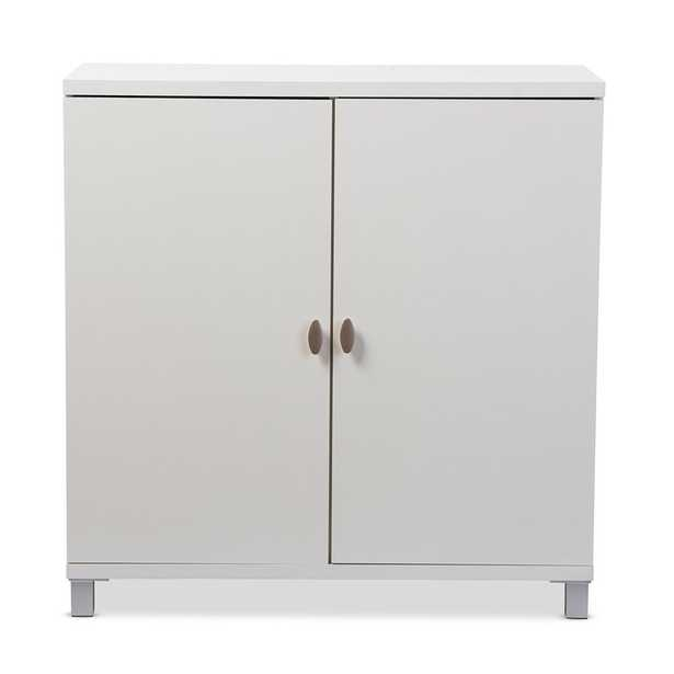 Marcy Modern and Contemporary White Wood Entryway Handbags or School Bags Storage Sideboard Cabinet - Lark Interiors