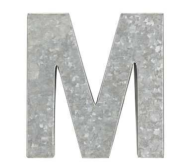 Galvanized Wall Letter, M - Pottery Barn Kids