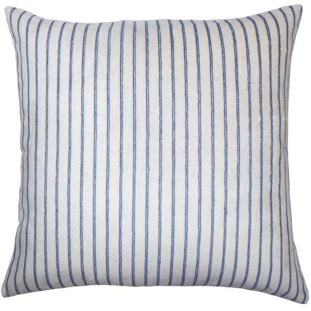 """Maaike Striped Pillow Blue - 18"""" x 18"""" - poly - Linen & Seam"""
