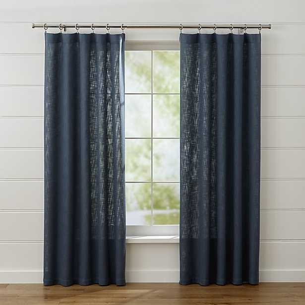 """Lindstrom Blue Curtains - 84"""" - Crate and Barrel"""