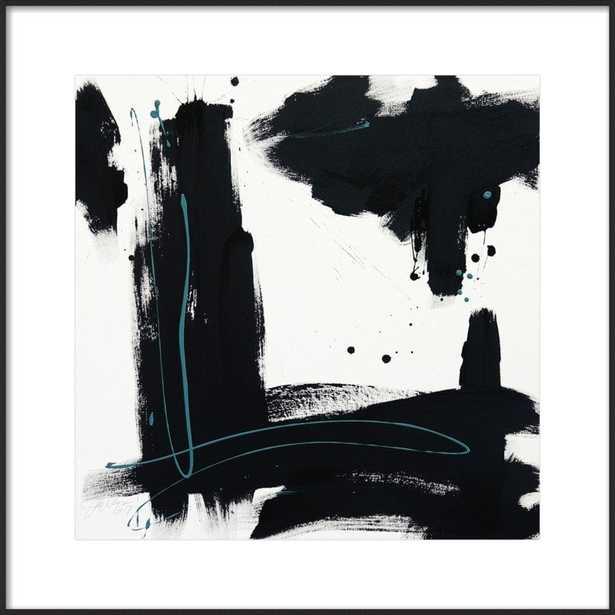 """B + W #2 - 24x24"""" - Matte Black Metal Frame with Matte - Artfully Walls"""