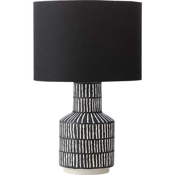 Hatch Black and White Table Lamp - CB2