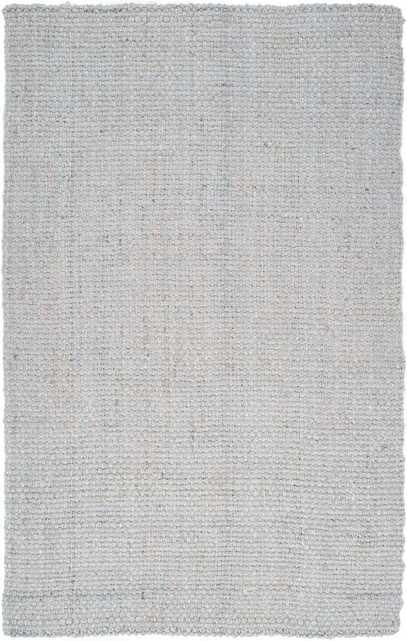 Light Hand-Woven Gray Area Rug, 5' x 8' - Wayfair