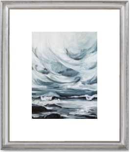 "Stormy Skies - 16"" x 20"" - Silver Leaf Frame with Mat - Artfully Walls"