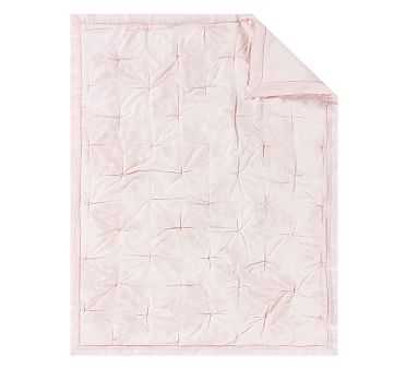 Monique Lhuillier Ethereal Lace Toddler Quilt, Blush - Pottery Barn Kids