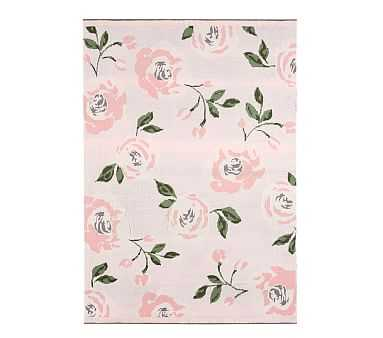 Meredith Knit Floral Baby Blanket, Blush - Pottery Barn Kids