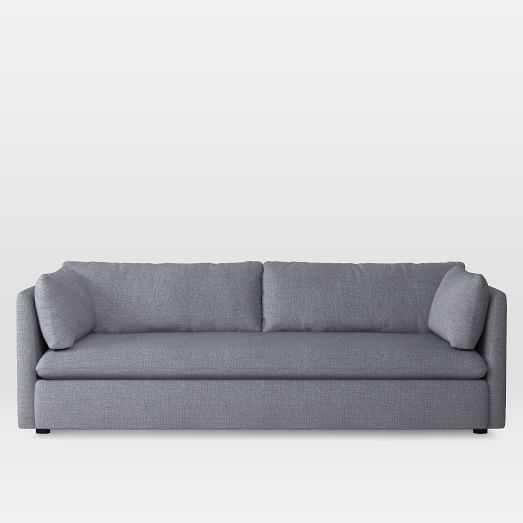 Shelter Grand Sofa, Yarn Dyed Linen Weave, Shelter Blue - West Elm